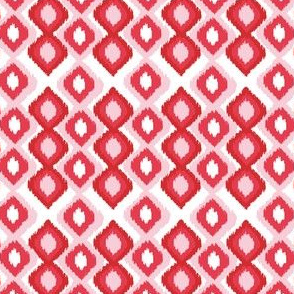 Ombre Ikat Red and Pink