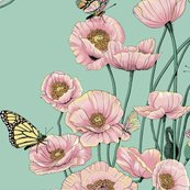 Rrrrpoppies_and_butterflies_pastel_on_pale_teal_bg_shop_thumb