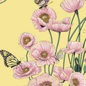 Rrrrpoppies_and_butterflies_pastel_on_pale_yellow_bg_shop_thumb