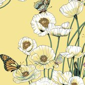 Rrrrpoppies_and_butterflies_pale_yellow_blossoms_on_pale_yellow_shop_thumb