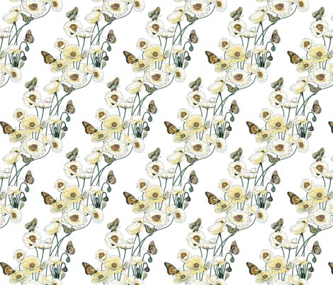 Rrrrrrpoppies_and_butterflies_pale_yellow_blossoms_on_white_shop_preview