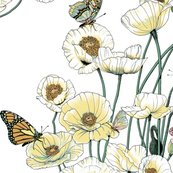 Rrrrrrpoppies_and_butterflies_pale_yellow_blossoms_on_white_shop_thumb