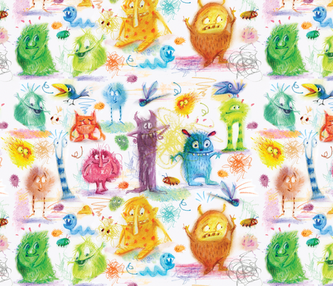 monster_pattern fabric by daniellehanson on Spoonflower - custom fabric