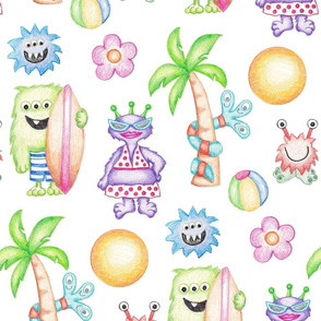 Crayon Monsters Ready for Summer