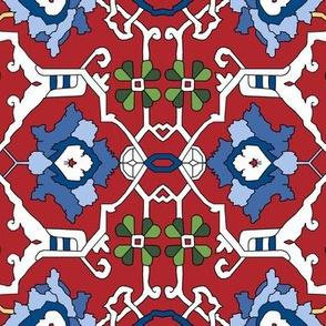 Custom 16th Century Floral Border