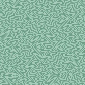 butterfly swirl in soft greens