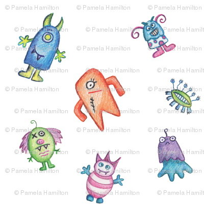 happy crayon monsters-1