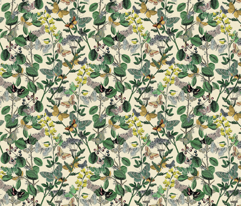 Springtime In The Butterflies' Garden ~ Small fabric by peacoquettedesigns on Spoonflower - custom fabric