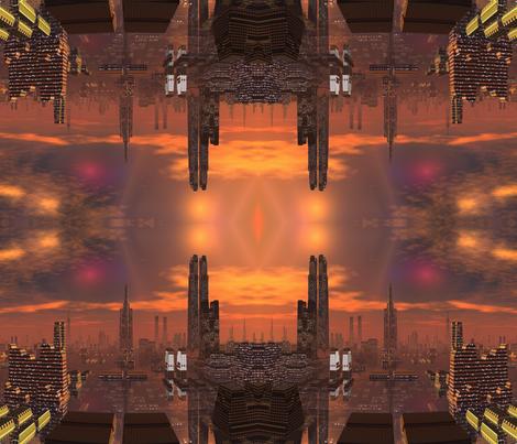 Alien City in Copper Brown 1 © Gingezel™