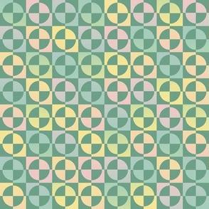 green rainbow circle squares