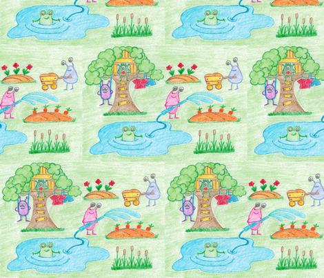 Monsters Village fabric by alenkas on Spoonflower - custom fabric
