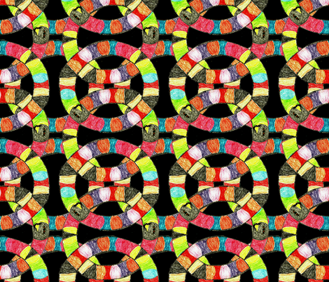 SnakesInAround1 fabric by grannynan on Spoonflower - custom fabric