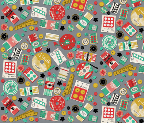 Sewing Supplies fabric by heidikenney on Spoonflower - custom fabric