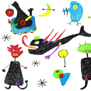Miro inspired monsters