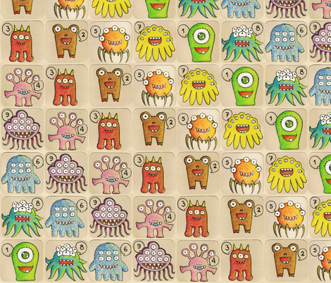 1, 2, 3... boo! fabric by analinea on Spoonflower - custom fabric
