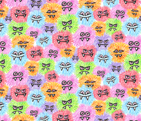Monster Puffs fabric by sufficiency on Spoonflower - custom fabric