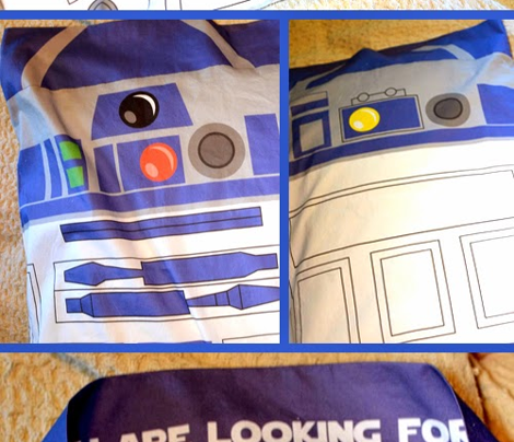 robot droid pillow case