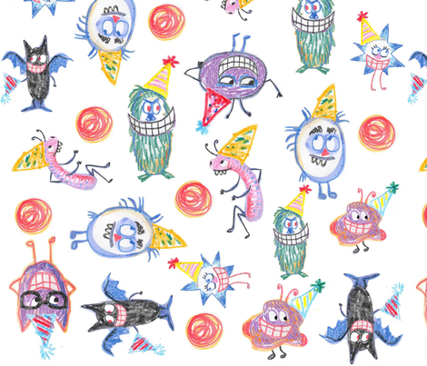 150_partyrepeat fabric by mcuetara on Spoonflower - custom fabric