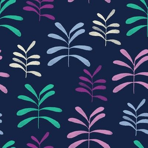 Bromeliads navy and orchid