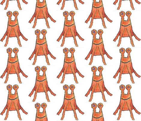 OrangeAlienCrayon fabric by natashagrace on Spoonflower - custom fabric