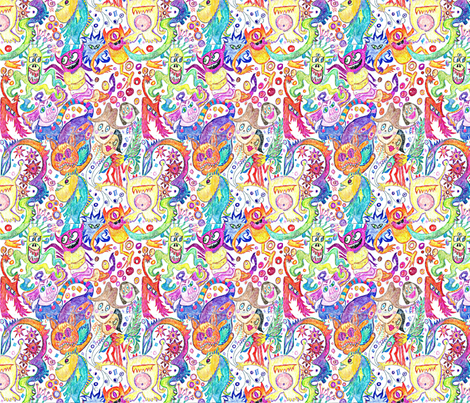 Creature Fair fabric by monkeyshinedesign on Spoonflower - custom fabric