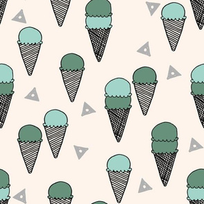 ice cream cone // summer tropical sweets food sweet ice cream cone fabrics