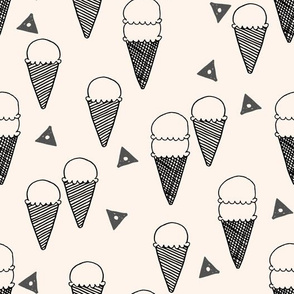ice cream cones // ice cream cone fabric sweets summer tropical kids fun illustration food design print