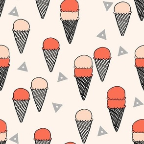 ice cream // ice cream cone sweet summer tropical sweets fabric