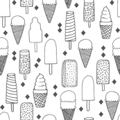 Ice Cream Varieties - White/Charcoal