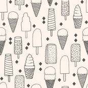 Ice Cream Varieties - Champagne/Charcoal