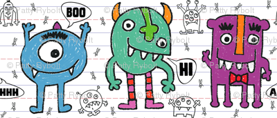 Monsters + Mosquitos (crayon)