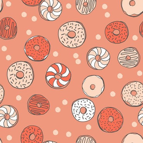 Donuts - Blush/Coral/Tea Rose by Andrea Lauren