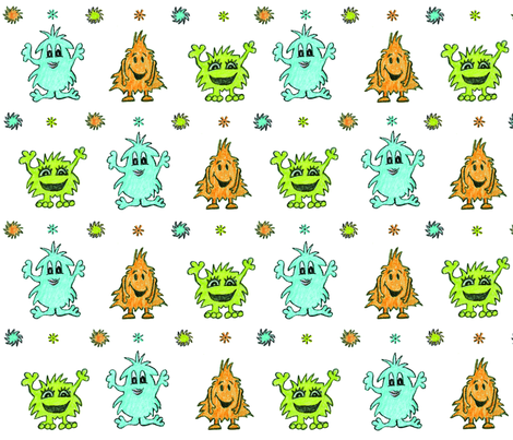 monster_fun fabric by gritgirl on Spoonflower - custom fabric