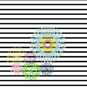 Mod blooms and black Stripe
