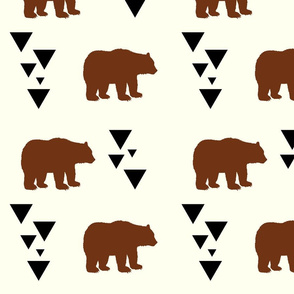 Geometric Bears - Brown Bears Black Triangles