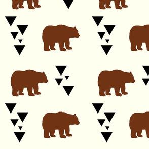 Geometric Bears - Brown Bears Black Triangles