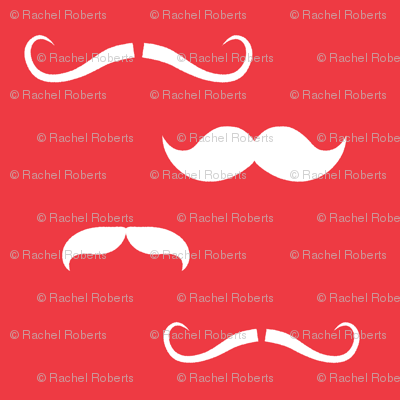 Raspberry Pink Mustaches