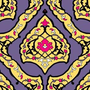 16th Century Carpet Drop Repeat Modern Colors