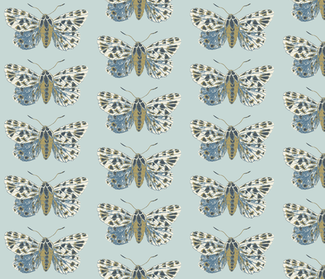 Small Tiger Moth Pearlwood fabric by gollybard on Spoonflower - custom fabric