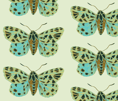 Tiger Moths Sweetfern fabric by gollybard on Spoonflower - custom fabric