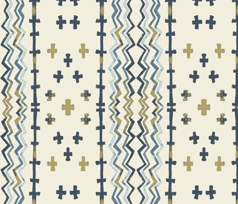 Sawtooth Stripe Pearlwood fabric by gollybard on Spoonflower - custom fabric