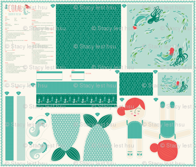 1_yard_doll_template_CORAL_Queen_of_the_Sea