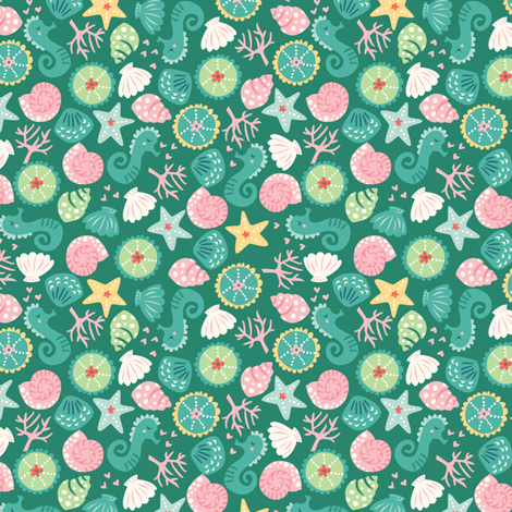 Undersea_treasures fabric by stacyiesthsu on Spoonflower - custom fabric