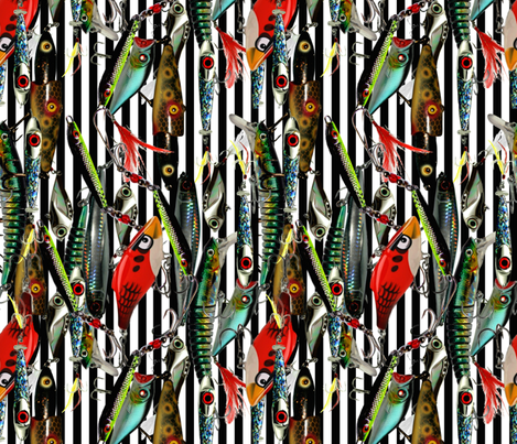 Closed. Gone Fishing! fabric by whimzwhirled on Spoonflower - custom fabric