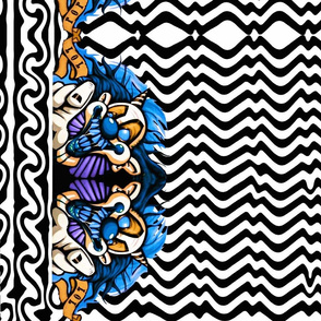 "Crazy clown 21"" border design"