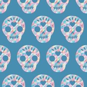 geometric sugar skull pastel