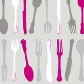 Pink Cutlery