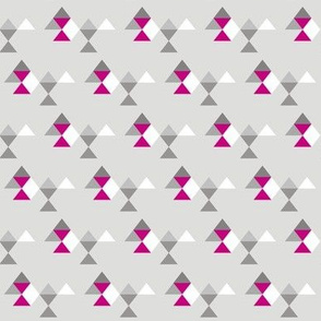 Geo Mod Pink Grey