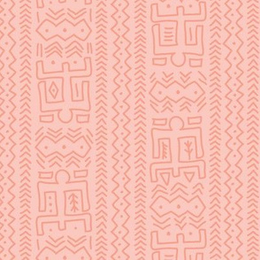 Modern Mudcloth - coral