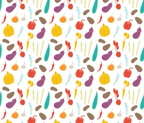Vegetable deligh fabric by rinomonsta on Spoonflower - custom fabric